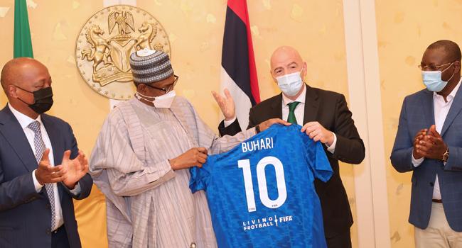 Buhari Receives Infantino, Says Football Is A Major Tool Of National Unity