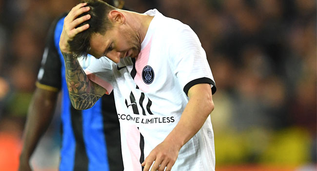 Champions League: Messi Makes First Start As Club Brugge Hold PSG