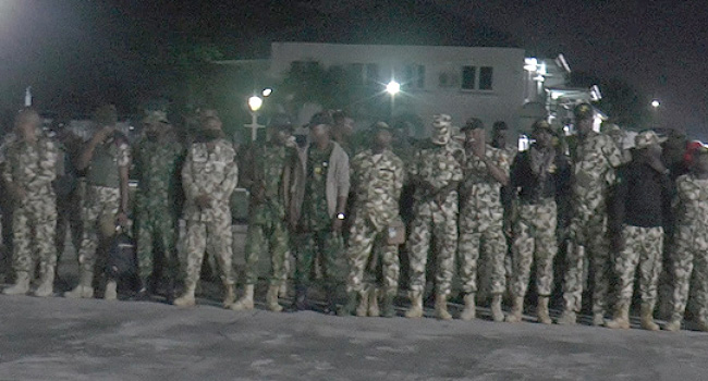 Navy Receives Operation Safe Haven Personnel From Jos