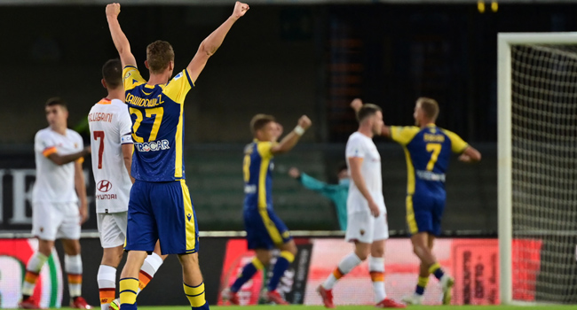 Verona Inflict First Loss On Mourinho's Roma