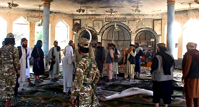 At Least 55 Killed As Suicide Bomber Attacks Shiite Mosque In Afghanistan