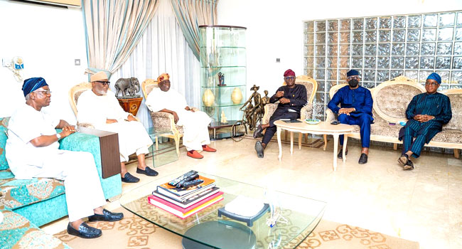 South-West Governors Meet In Lagos, Visit Tinubu