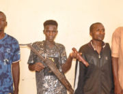 The suspected kidnappers arrested by the police authorities in Adamawa State. Credit: Adamawa State Police Command.