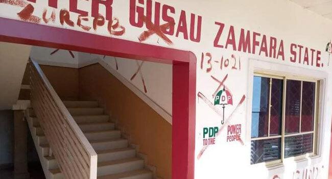 The PDP secretariat in Zamfara State