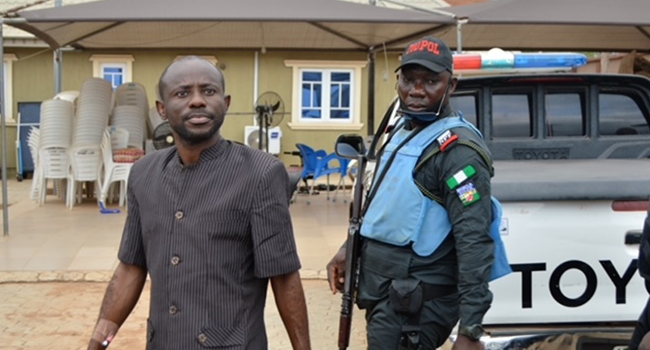 An image showing Olaniyan Gbenga Amos, also known as 'Crime Alert'. Source: EFCC