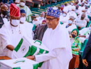 President Muhammadu Buhari presents the 2022 budget at the National Assembly on October 7, 2021. Bayo Omoboriowo/State House