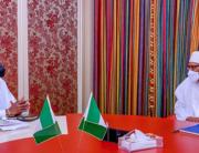 Pastor Tunde Bakare met with President Muhammadu Buhari on October 15, 2021. Bayo Omoboriowo/State House