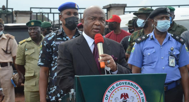 Go After Criminal Elements In Imo State, Uzodinma Charges Troops