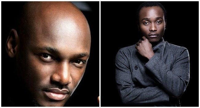 A photo combination created on October 9, 2021 showing Innocent Idibia, better known as 2Baba and Ọlawale Ọlọfọrọ, also known as Brymo.