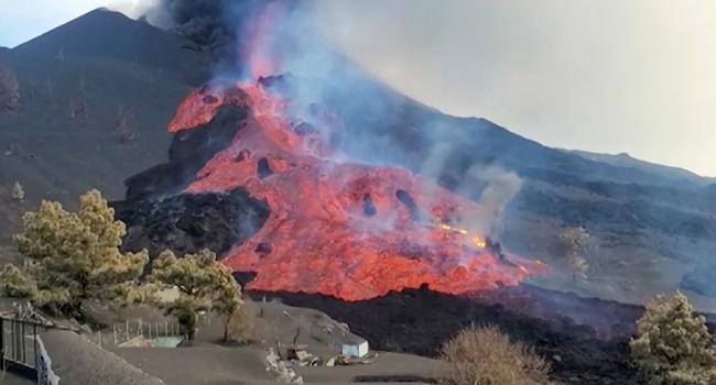 Thousands Locked Down As La Palma Volcano Destroys Cement Works